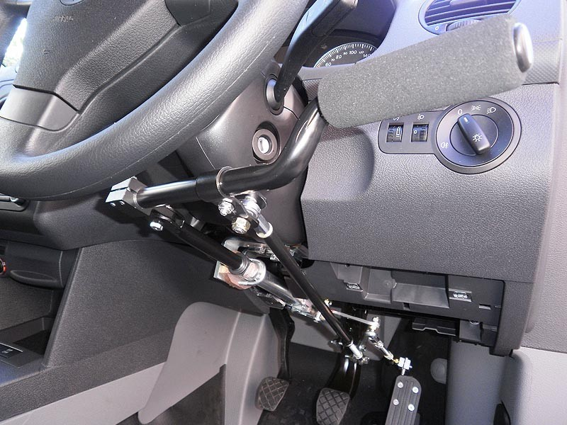 hand controls help to disability people and dwarfs can drive